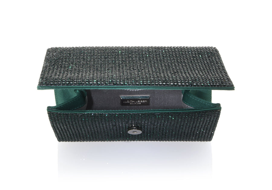 Fizzy Emerald Crystal Clutch