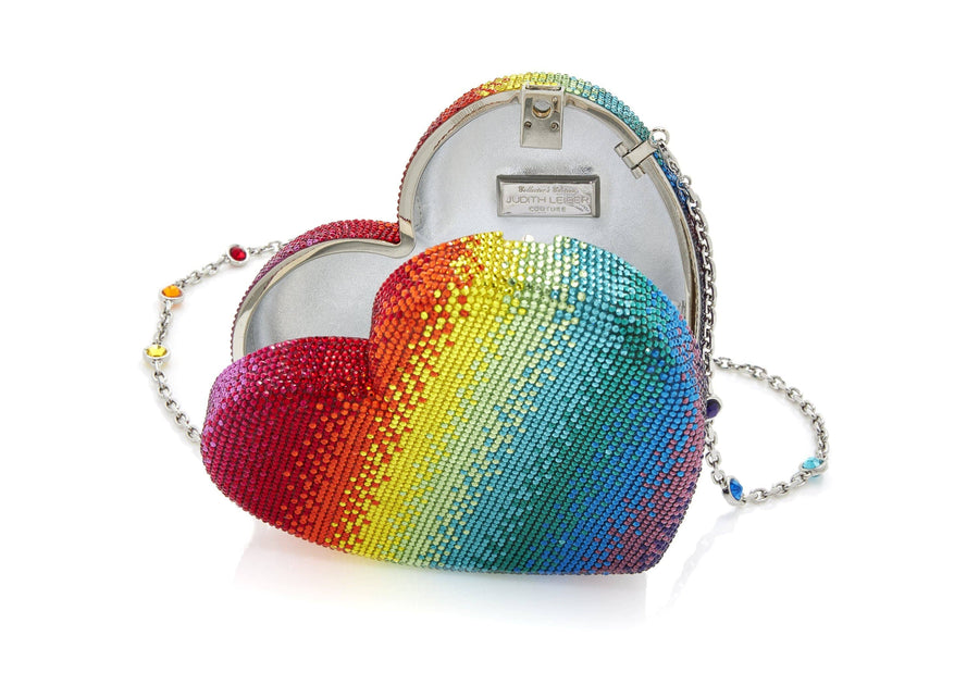 Heart Clutch Rainbow