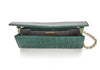 Kate Emerald Crocodile Clutch