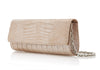 Kate Nude Crocodile Clutch