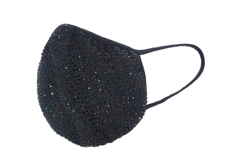 Crystal face mask-Rainbow black