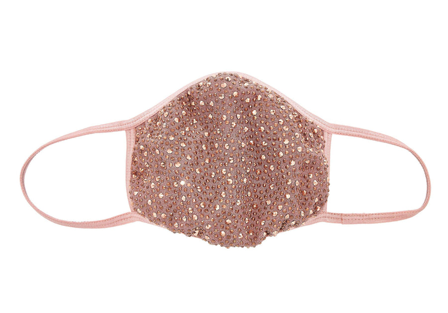 Crystal face mask-Rose gold
