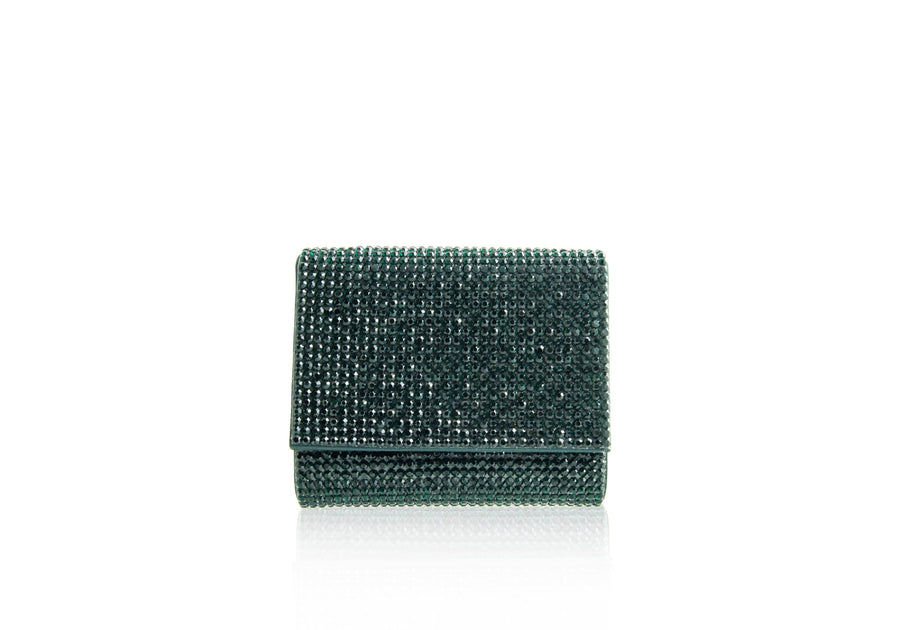 Micro Fizzy Emerald Crystal Clutch