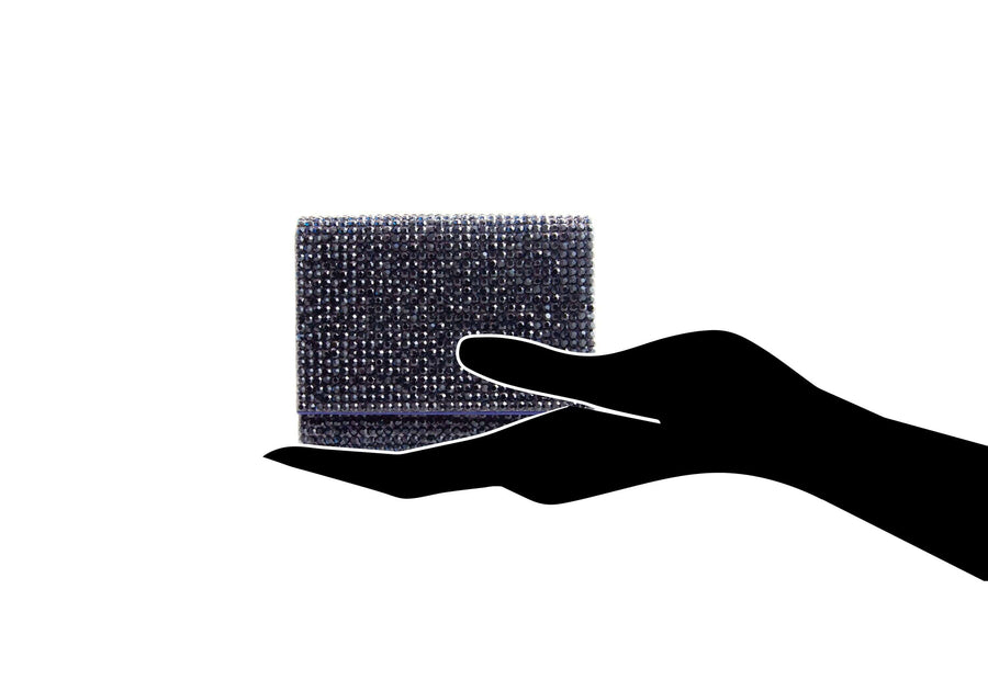 Micro Fizzy Navy Crystal Clutch