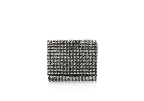 Micro Fizzy Grey Crystal Clutch
