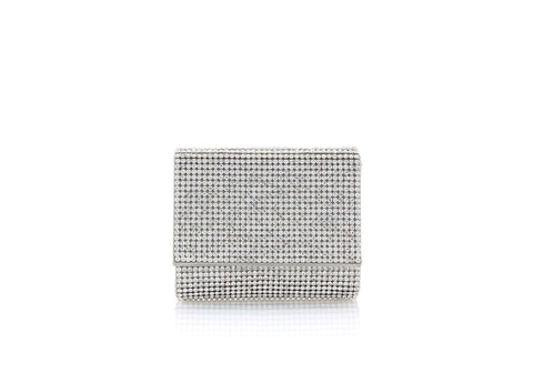 Micro Fizzy Silver Crystal Clutch