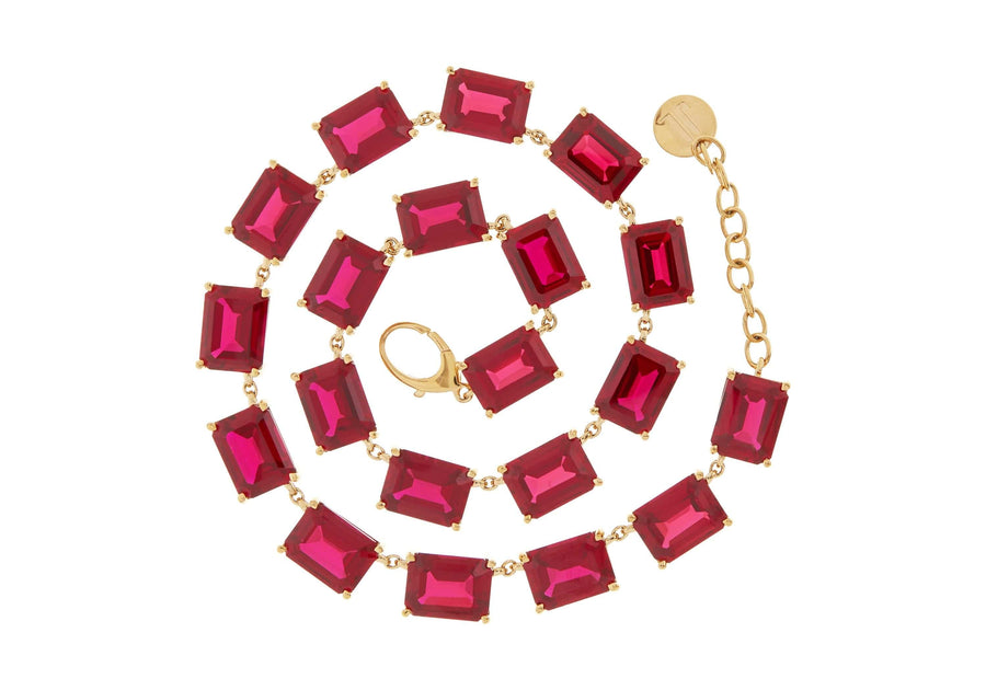 Crimson Gem Collet Necklace