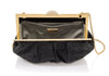 Natalie Black Crystal Clutch