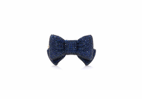 Bow Pillbox Dark Indigo