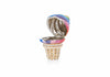 Ice Cream Cone Pillbox Rainbow Twist