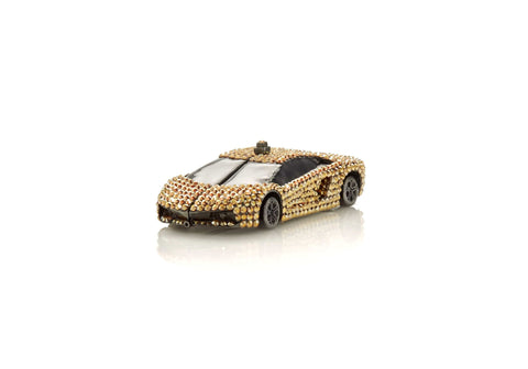 Sports Car Pillbox Gold