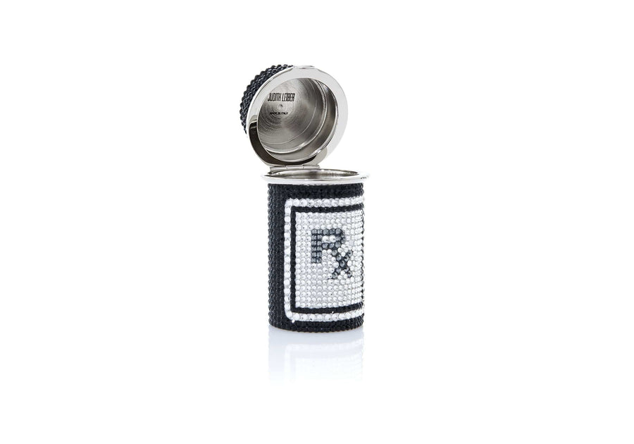 Prescription Bottle Pillbox Black