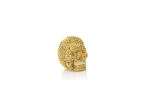 Skull Pillbox Gold