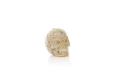 Skull Pillbox Champagne