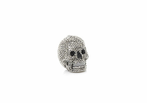 Skull Pillbox Hematite