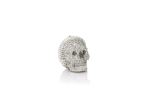 Skull Pillbox Silver