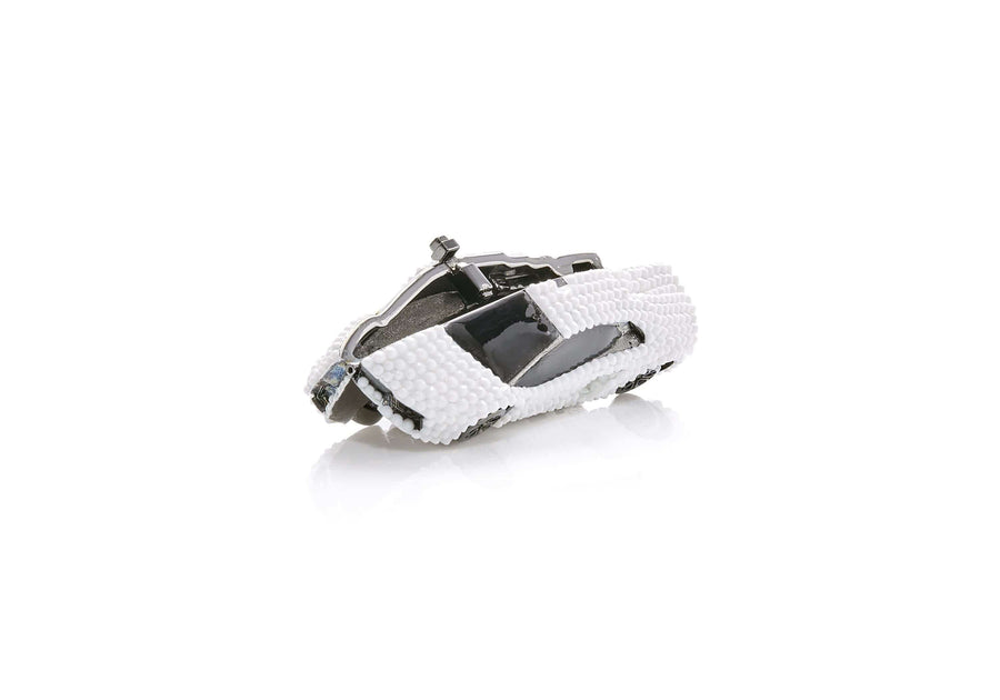 Sports Car Pillbox Chalk White