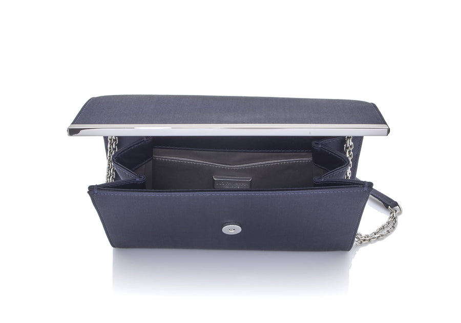 Quinn Satin Clutch Grey