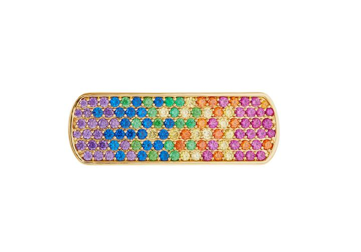 Rainbow Pave Ring
