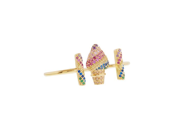 Ice Cream Cone Knuckle Duster Ring