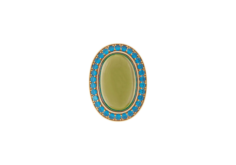 Green Cabachon Ring