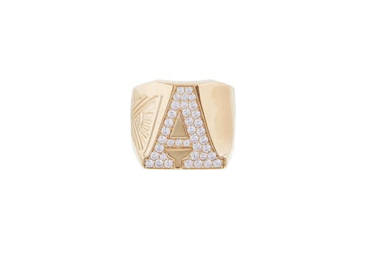 Block Letter Signet Ring