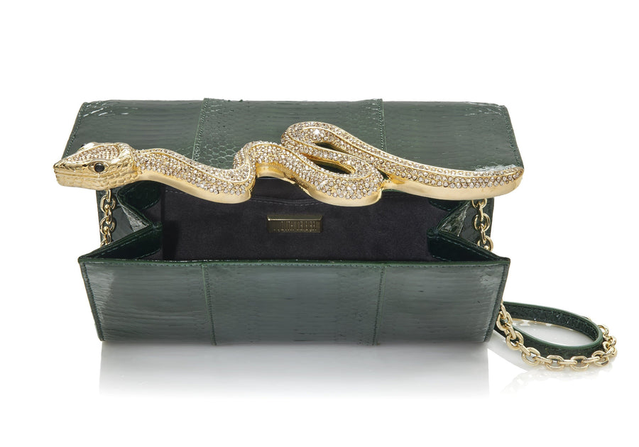Serpent Elaphe Clutch Emerald