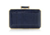 Soho Navy Snakeskin Clutch