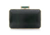Soho Emerald Snakeskin Clutch
