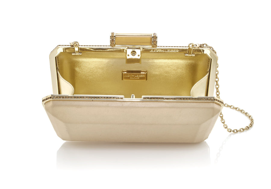Soho Champagne Satin Clutch