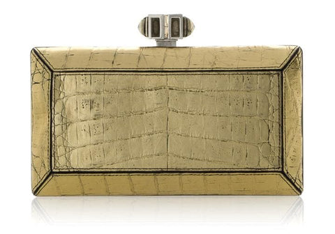 Crocodile Gold Clutch
