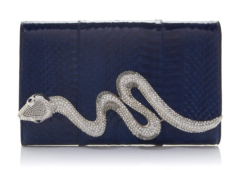 Serpent Elaphe Clutch Navy