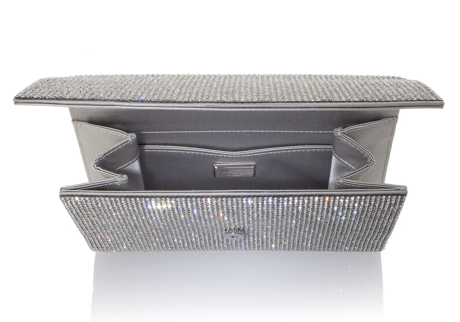 Fizzoni Silver Crystal Clutch