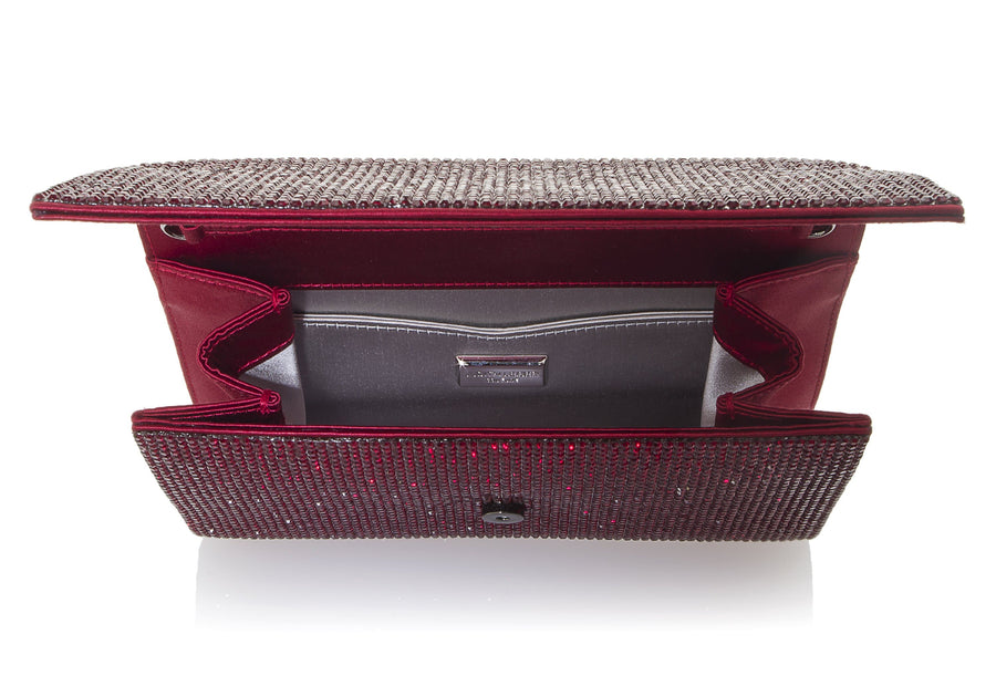 Fizzoni Red Crystal Clutch