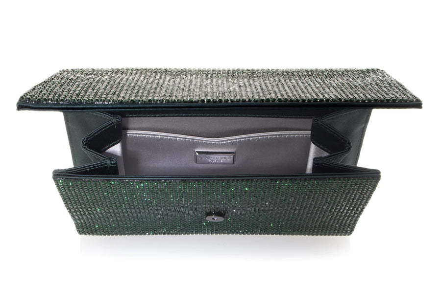 Fizzoni Emerald Crystal Clutch