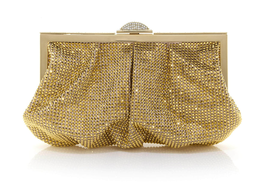 Natalie Gold Crystal Clutch