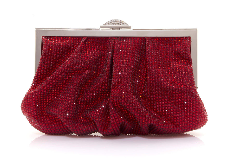 Natalie Red Crystal Clutch