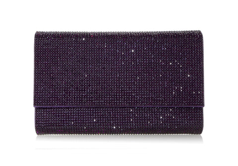 Fizzoni Plum Crystal Clutch