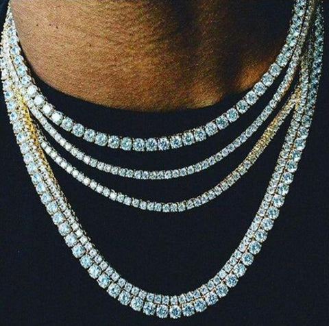 ICED OUT DIAMOND TENNIS CHAIN