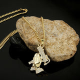 PRAYING HANDS & UZI CHAINS 18K GOLD