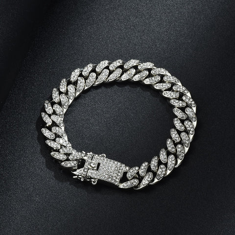 ICED OUT 10K GOLD / SILVER DIAMOND BRACELET