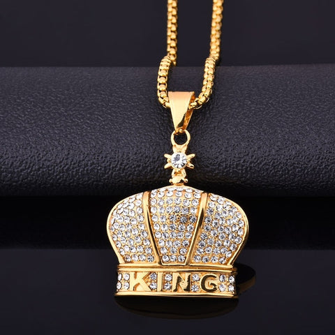 KING'S DIAMONDS 18K GOLD CHAIN / PENDANT