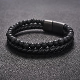 STONES AND LEATHER BRACELET