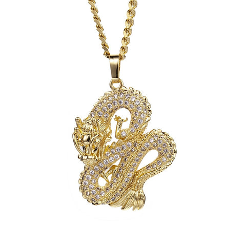 DRAGON 18K GOLD & SILVER CHAIN / NECKLACE