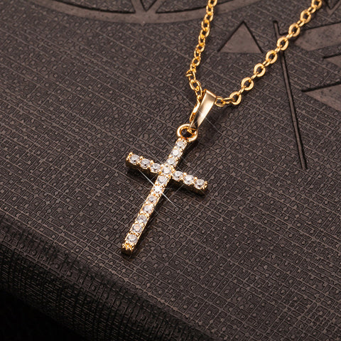 10K GOLD AND SILVER DIAMOND PENDANT / CHAIN