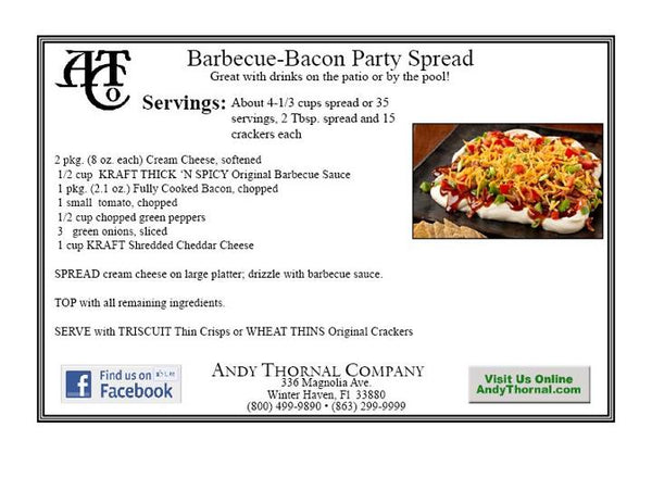 Favorite recipes tagged bacon recipes andy thornal company bbq bacon party dip forumfinder Gallery