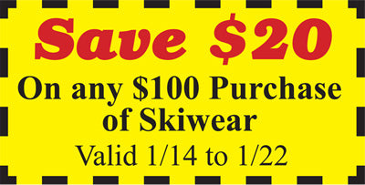Ski wear Coupon