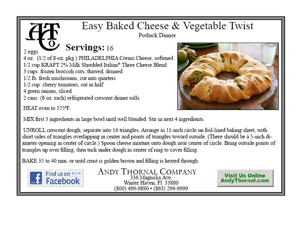 Favorite recipes tagged veggie andy thornal company easy bake cheese and veggie twist forumfinder Gallery