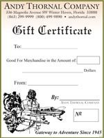 Andy Thornal Gift Certificate