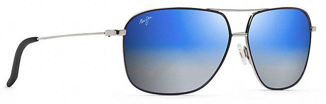 18ce35cb74ab7 Maui Jim Kami Sunglasses - Blue to Silver/Silver w/Navy Blue - Andy ...